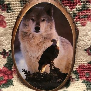 Wolf and Eagle Plaque.